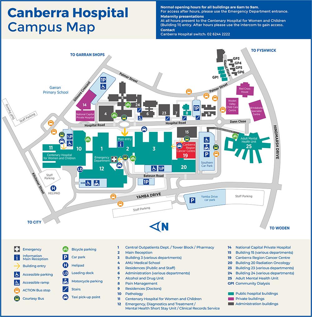 Maternity Hospital Floor Plan: Location