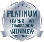 Platinum LearnX Live Awards logo