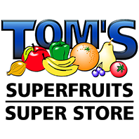 Tom's Superfruits Super Store logo