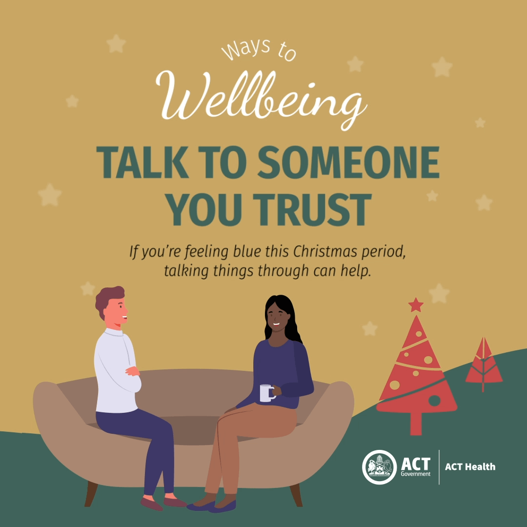 Talk to someone - Ways to Wellbeing