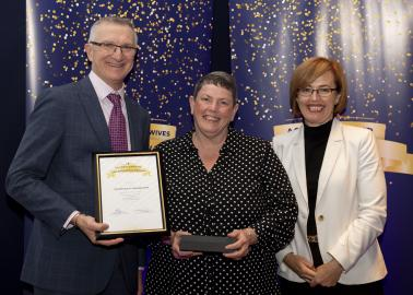 Excellence in Management award winner Lynette O'Connell